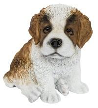 Статуэтка (копилка) собака щенок сенбернара цветной