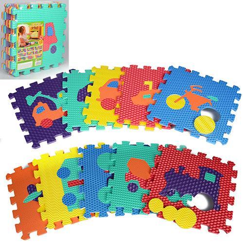 Коврик-мозаика M 2621 Веселая головоломка транспорт разноцветные