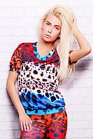 свитшот GLEM Разноцветный леопард кофта Свитшот №1М (весна) к/р