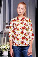 блуза GLEM Роза красная блуза Тамила1 д/р