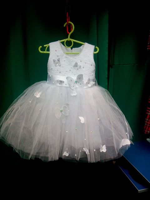 Нарядное бальное детское платье Бабочка