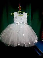 Нарядное бальное детское платье Бабочка , фото 1