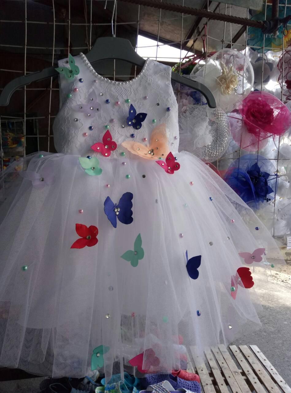 Бальное детское платье Бабочка (2-4 года)