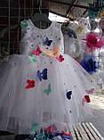 Нарядное бальное детское платье Бабочка , фото 3