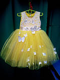 Нарядное бальное детское платье Бабочка , фото 5