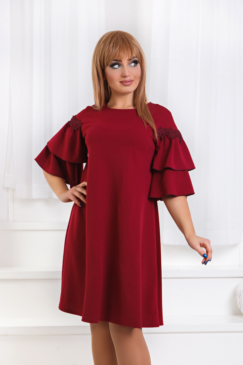 ДТ1183 Платье с воланами размеры 50-56