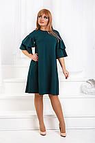ДТ1183 Платье с воланами размеры 50-56, фото 3