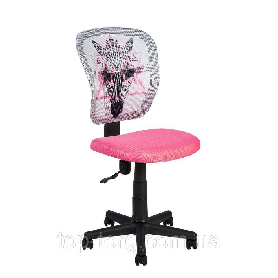 Крісло дитяче комп'ютерне pink ZEBRA,рожевий з сірим