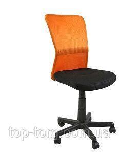 Стул офисный, компьютерный BELICE, Black/Orange черный, оранжевый