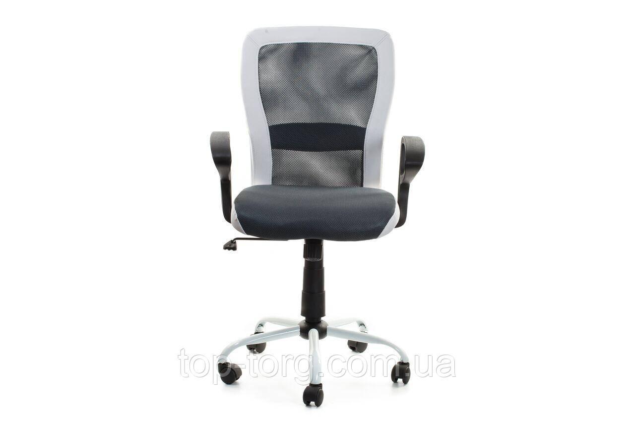 Кресло офисное, компьютерное LENO, Black-white, черный с белым