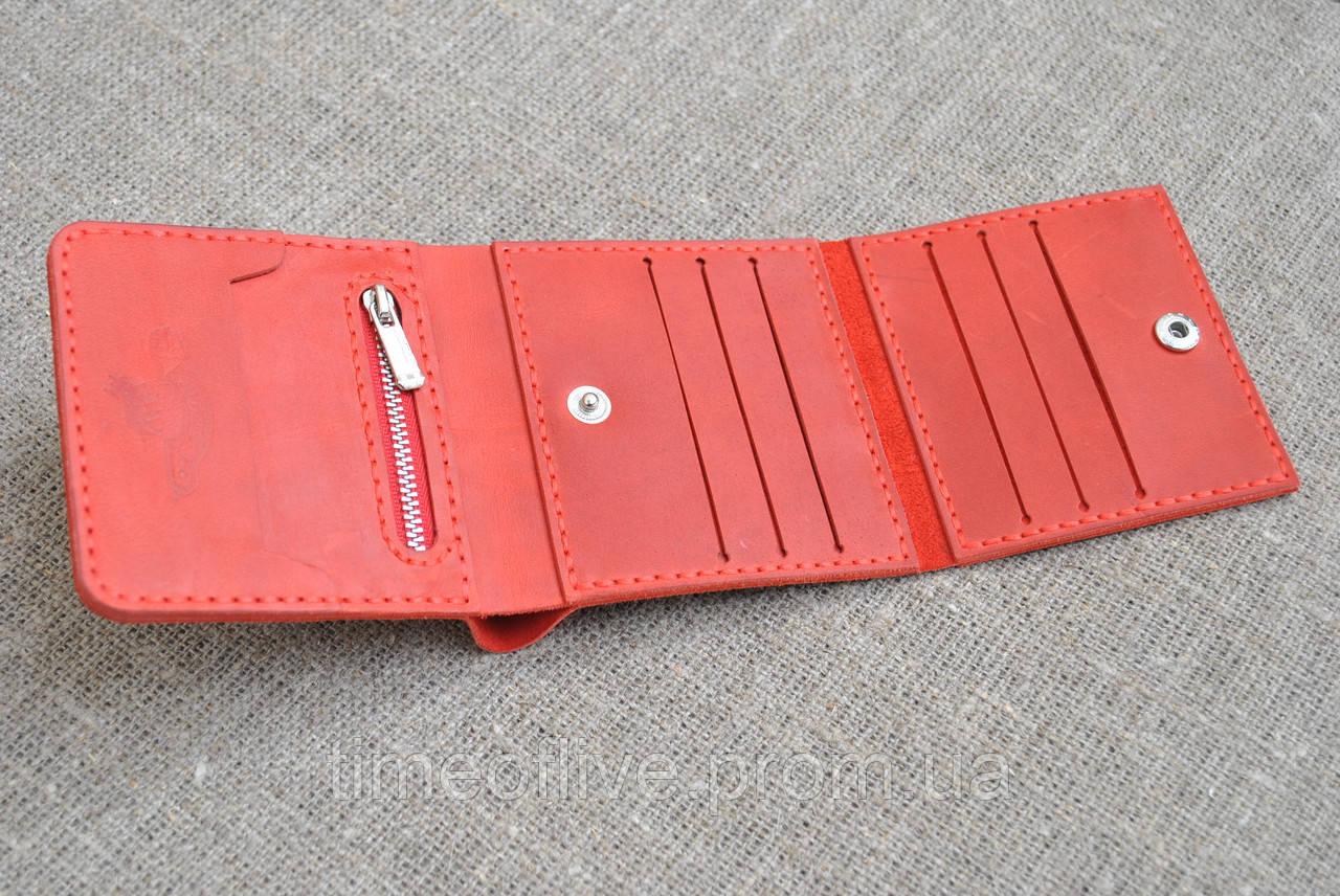418bdc11a68c Женский кожаный кошелек красного цвета ручной работы: продажа, цена ...