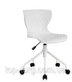 Крісло офісне, стілець RAY, колір білий