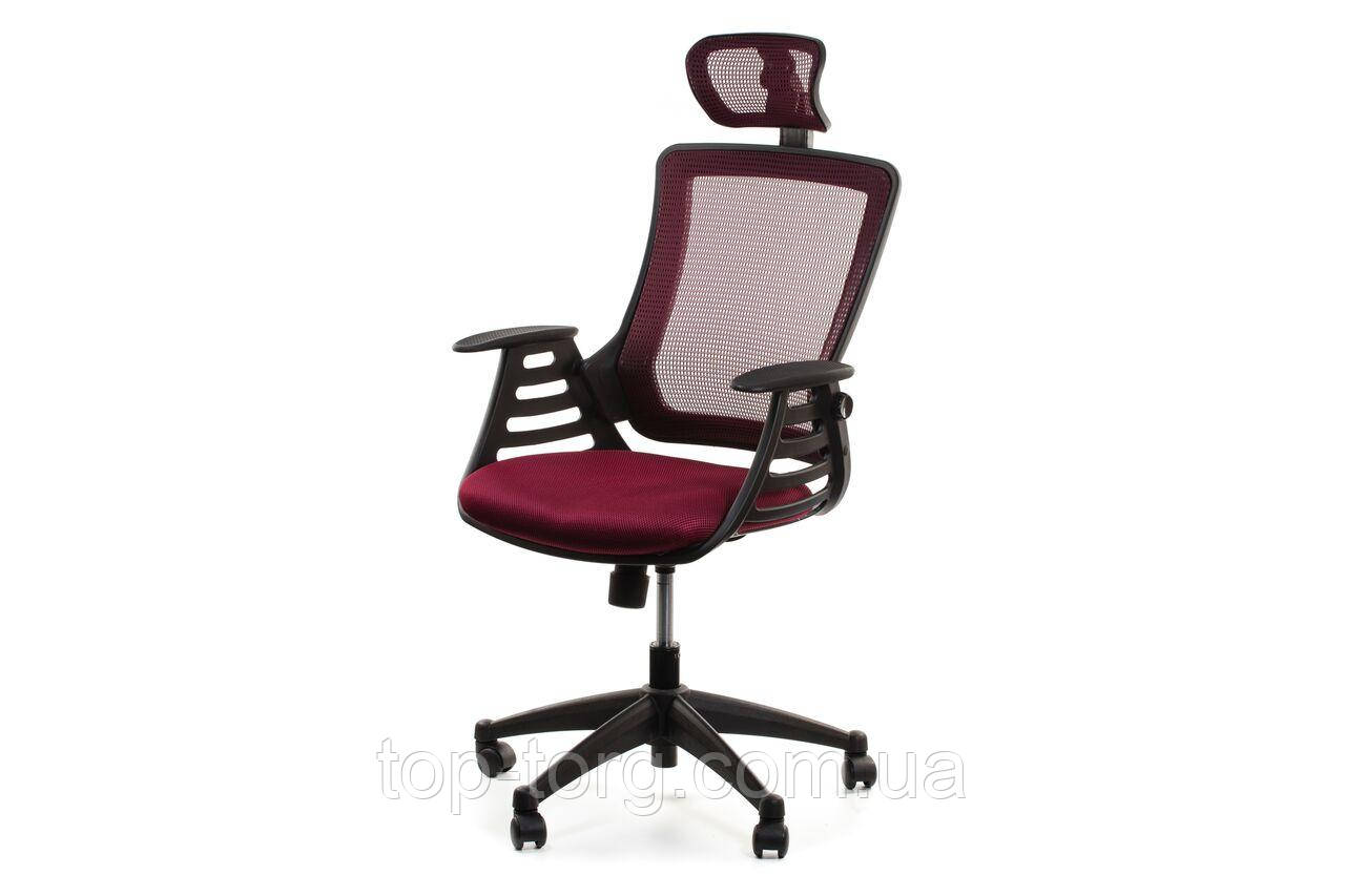 Кресло компьютерное офисное MERANO headrest, Bordeaux, бордовый