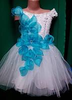 Нарядное детское платье с корсетом