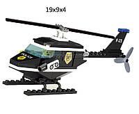 """Конструктор """"Brick"""" 123 (80шт)""""Полиция"""" 76 дет,вертолет,человечек,от 6-ти лет,в разобр.кор. 19*9*4см"""