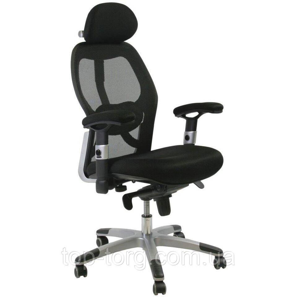 Кресло руководителя GAIOLA, black chrome компьютерное, офисное