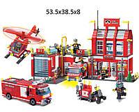 """Конструктор """"Brick"""" 911 (12шт/2)""""Пожарная охрана"""" 980 дет 6+ лет,в собр. кор.54*39*7см"""
