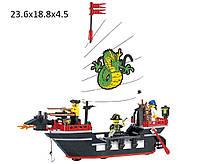 """Конструктор """"Brick"""" 301 (298784) (36шт)""""Пиратский корабль""""211дет.,в разобр. кор. 24*19*5см"""