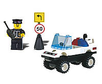 """Конструктор """"Brick"""" 124 (80шт)""""Полиция"""" 39 дет., машина,человечек, от 6-ти лет, в собр.кор. 14*7*5см"""