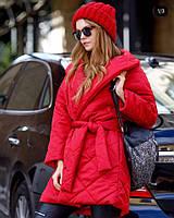 Куртка Материал стёганная плащевка синтепон плотностью 200 Цвета чёрный, красный, хаки,пудра дмон №1104