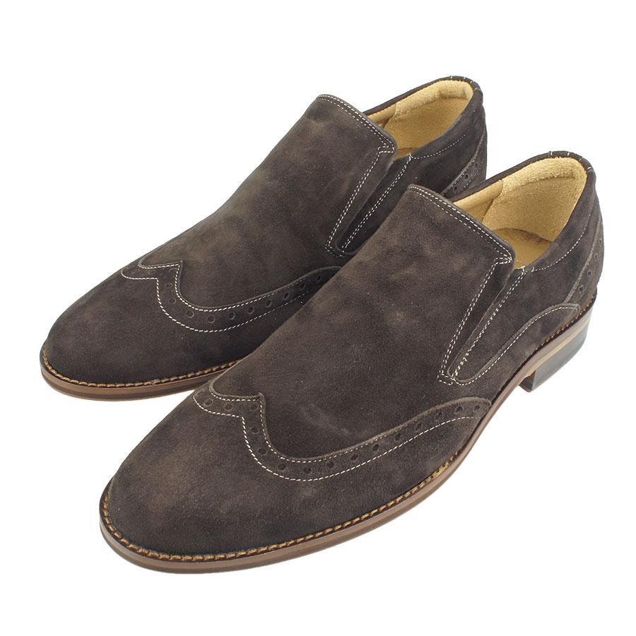 Чоловічі туфлі Tapi A-5742 замш коричневого кольору.