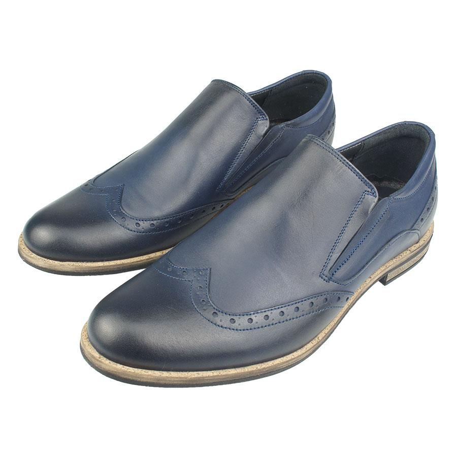 Чоловічі туфлі Tapi A-5750 кожані синього кольору