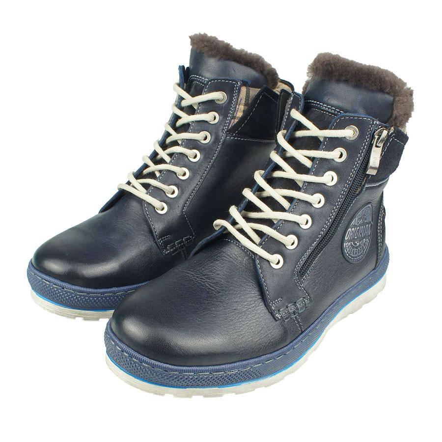 Чоловіче зимове взуття PAN 1100 C Granat синього кольору в інтернет ... 67fcc2b364dee