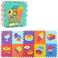 Детский коврик игровой M 3516 Веселая мозаика. Сладости.