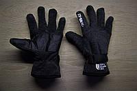 Зимние тёплые перчатки North Face Норт Фейс серые