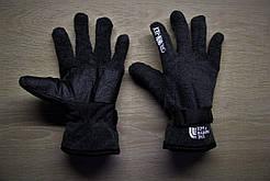 Зимние тёплые перчатки North Face Норт Фейс серые (реплика)