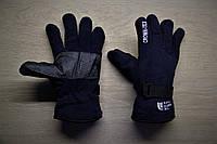Тёплые перчатки North Face Норт Фейс тёмно-синие