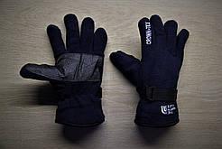 Тёплые перчатки North Face Норт Фейс тёмно-синие (реплика)