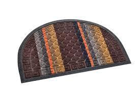 Придверный коврик цв. полукруг 50х80 см
