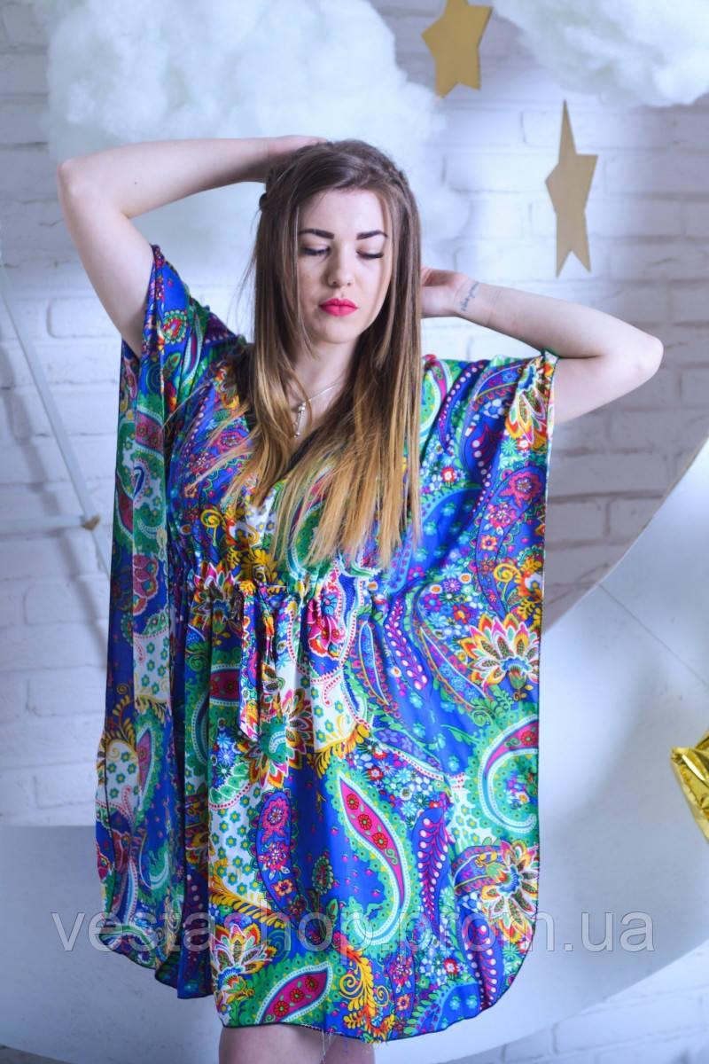 7aecac5835c1378 Штапельный халат для женщин Перья -