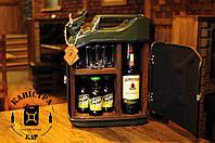 В подарок мужчине Канистра мини бар  (деревянная отделка ) , мини бар из канистры
