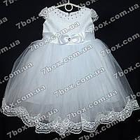 Нарядное детское платье бальное Эльза (белое) Возраст 3-4года, фото 1