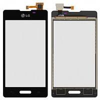 Сенсор (тачскрин) для LG E450 Optimus L5 II/E460 черный
