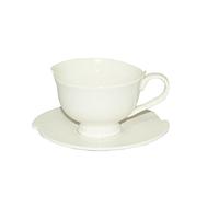 Чашка с блюдцем белая Хорека(чашка-110мл, блюдце-11,5см)