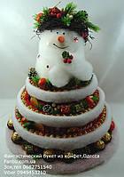 Новогодний снеговик с конфетами (с сюрпризом-место для шапанского), фото 1