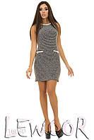 Платье-костюм в стиле шанель из трикотажа букле