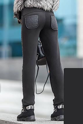 Женские зимние брюки лаке дайвинг флис, женские зимние брюки оптом от производителя, фото 2