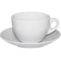 Чашка с блюдцем белая Хорека 300мл