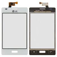 Сенсор (тачскрин) для LG E610 Optimus L5/E612 белый Оригинал
