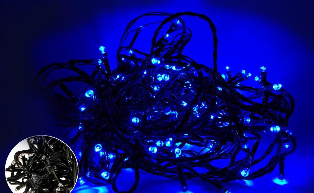 ГИРЛЯНДА LED 500 BLUE (BLACK)