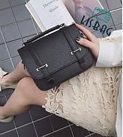 Маленькая черная  рифленая сумочка, новинка осени