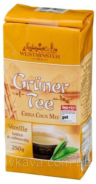 Чай зелений Westminster Gruner Tee China Chun Mee Vanille, 250 гр