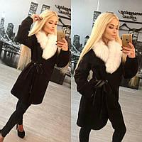 Утепленное женское кашемировое пальто , фото 1