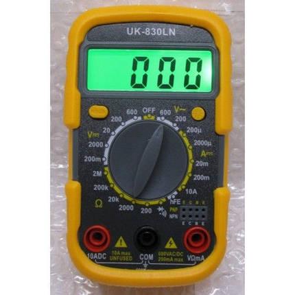 Мультиметр цифровой DT830LN Тестер, фото 2