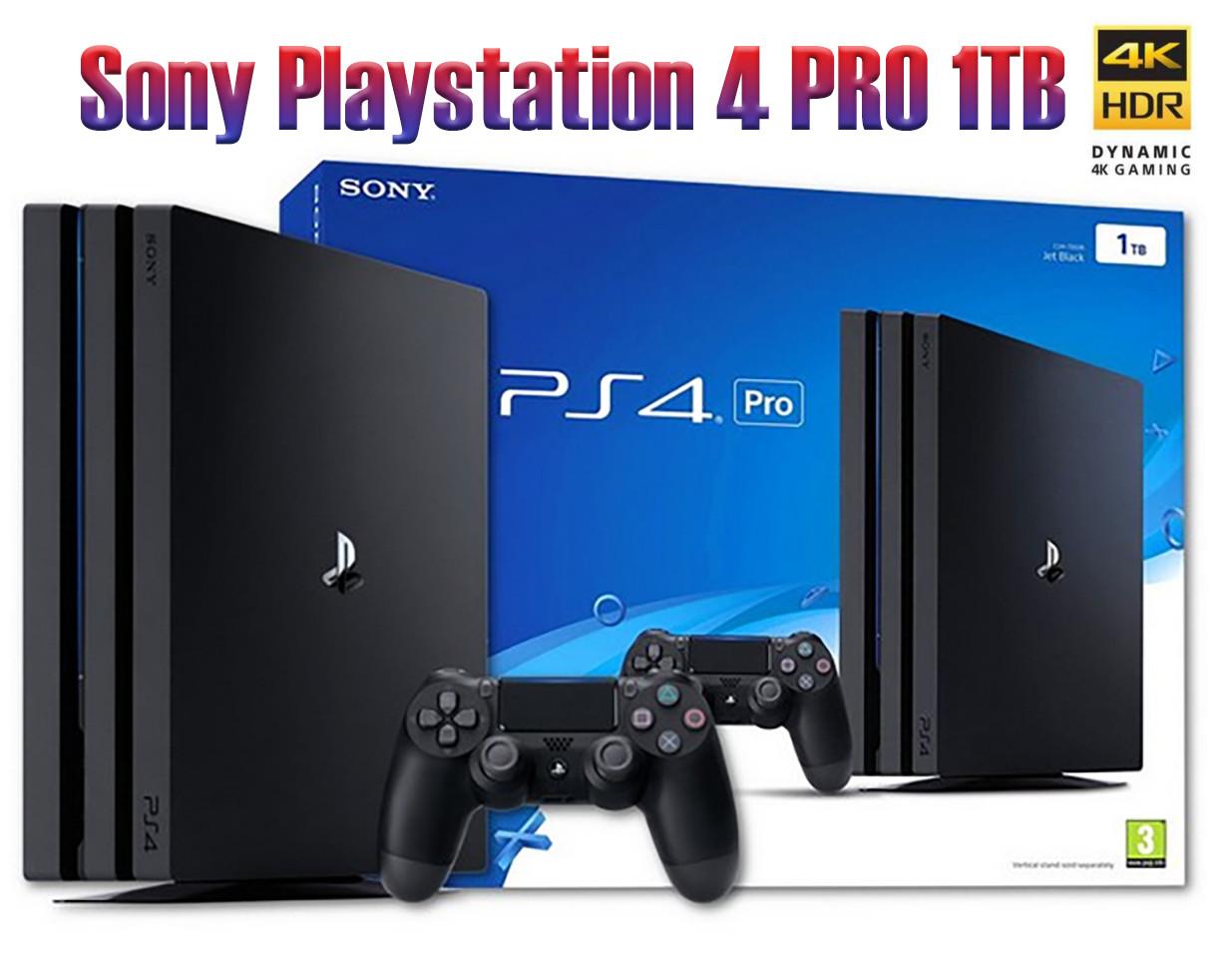 Sony Playstation 4 Pro 1tb Black Cuh 7116b