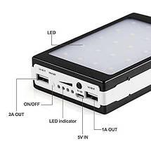 Power Bank 20000 mAh на солнечных батареях + Solar + Led панели, фото 2